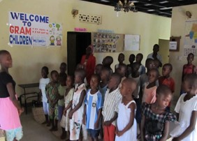 The kids, with help from a volunteer, composed a welcoming song for us in Swahili. We realised the song was about us when we heard our names. It was very touching!